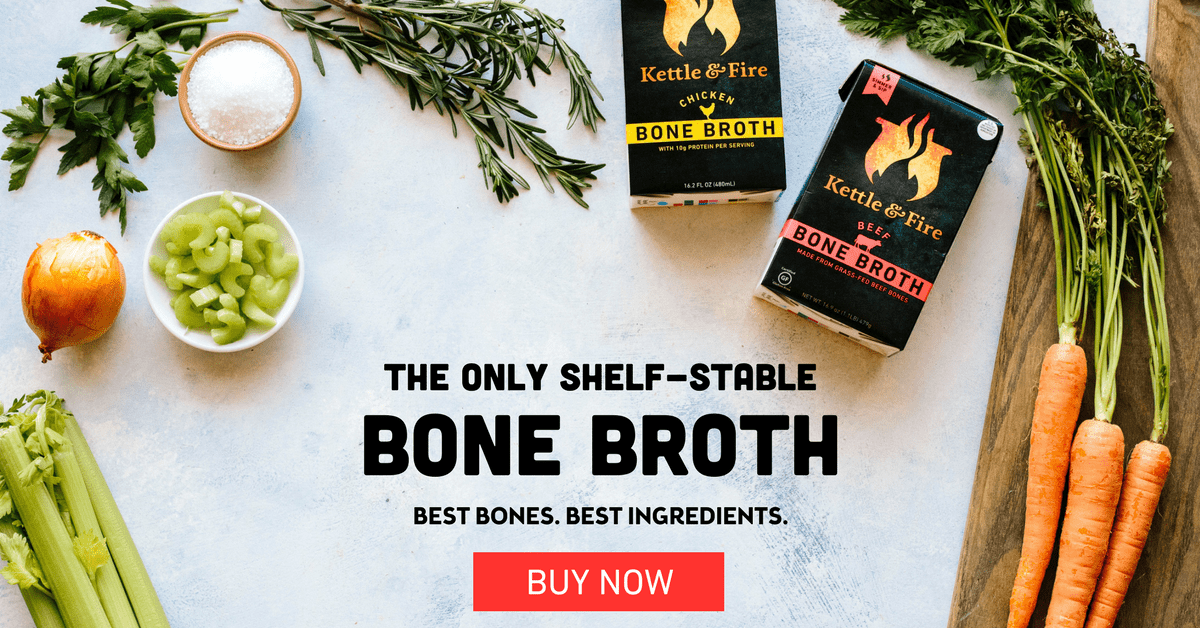 Kettle and fire bone broth banner
