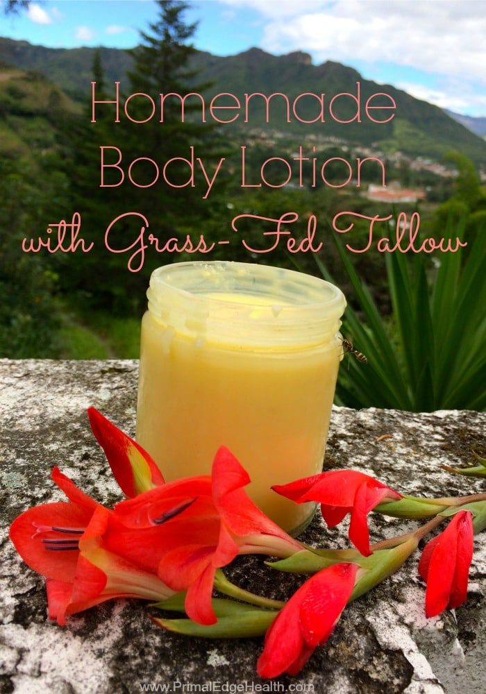 Homemade Body Lotion Recipe with Grass-Fed Tallow