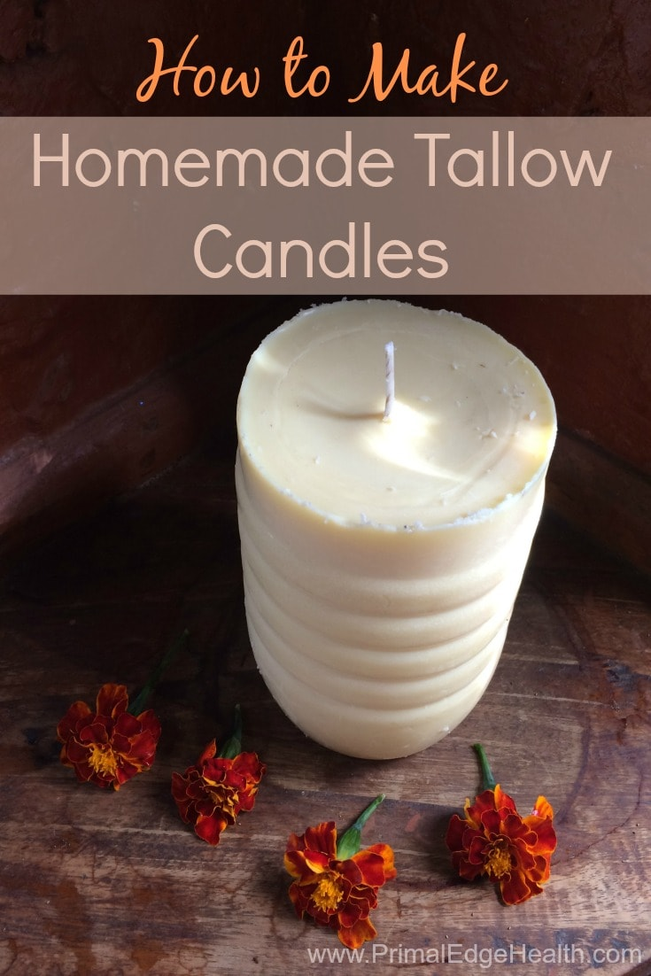 How to Make Homemade Tallow Candles
