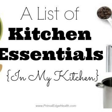 A List of Kitchen Essentials {In my kitchen}