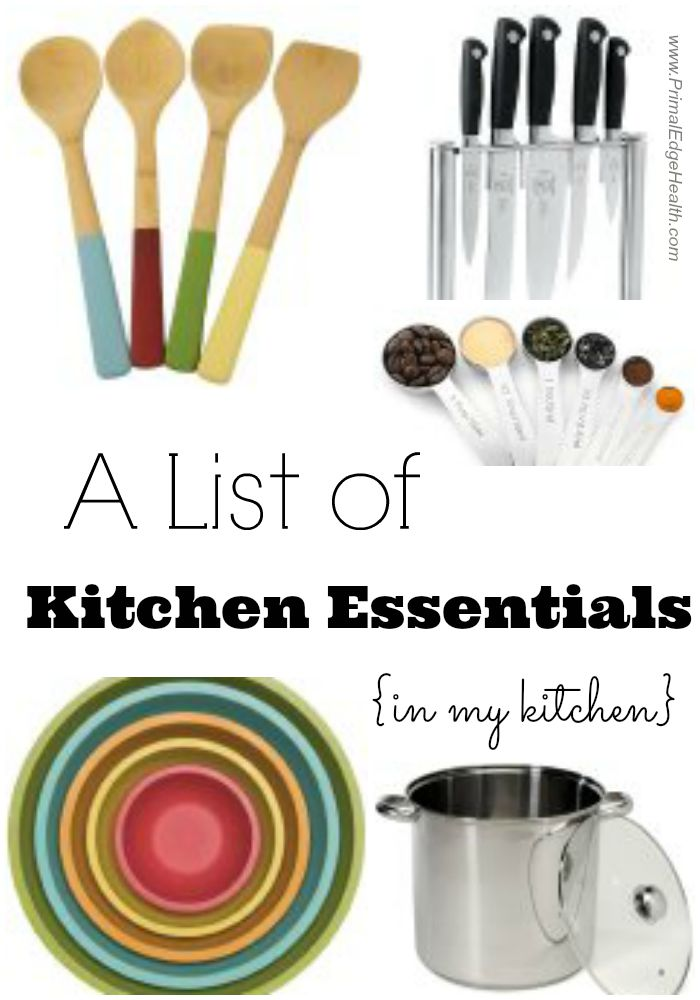 A list of kitchen essentials