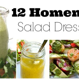 12 Healthy Homemade Salad Dressings