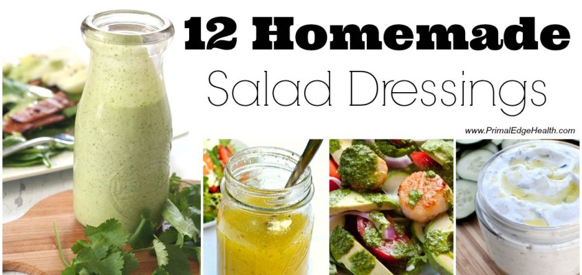 12 Healthy Homemade Salad Dressings