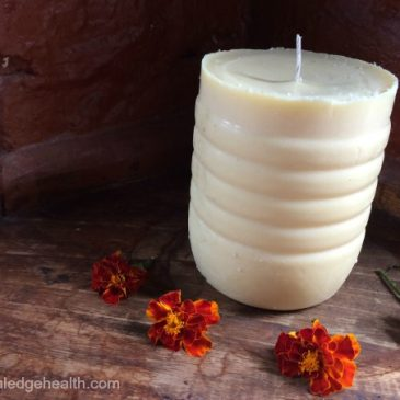 natural homemade tallow candle
