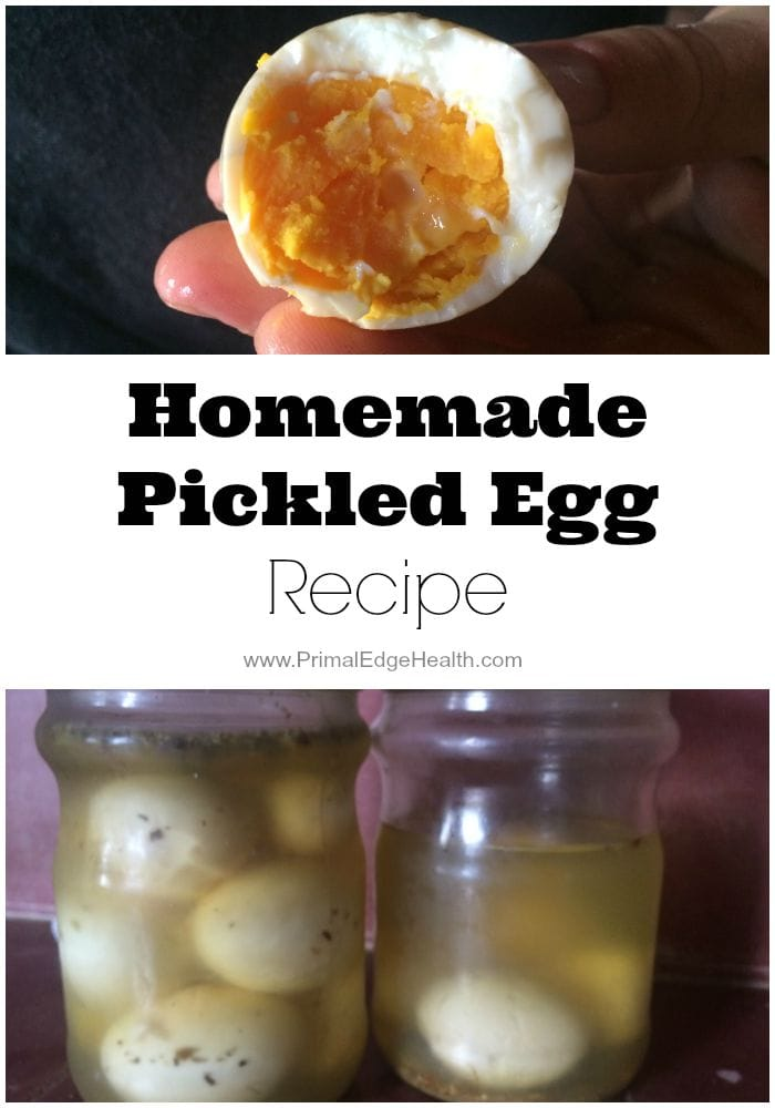 Homemade Pickled Egg Recipe www.primaledgehealth.com