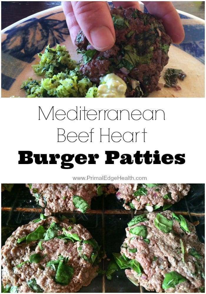 Mediterranean Beef Heart Recipe Burger Patties