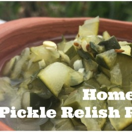 Homemade Pickle Relish Recipe
