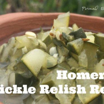 homemade pickle relish recipe