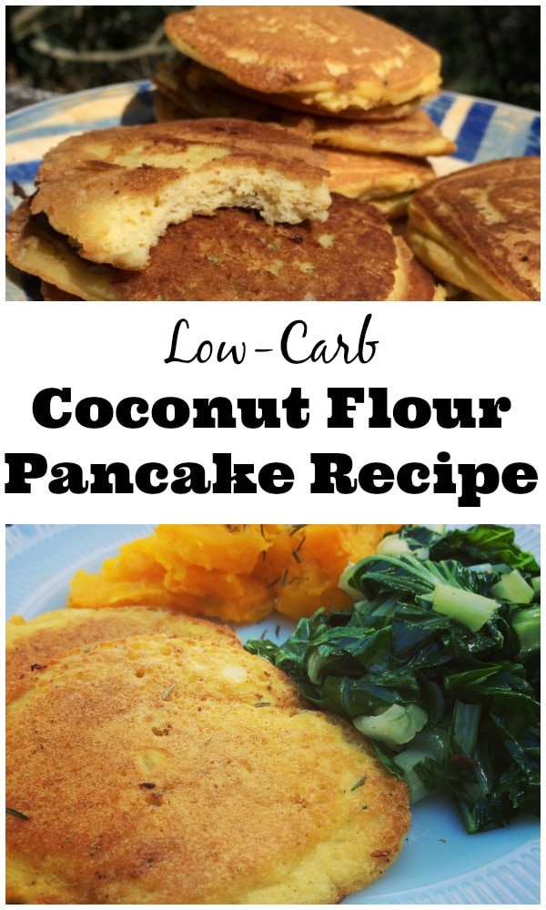 Make savory low-carb coconut flour pancakes by adding herbs like ...