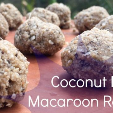 Raw Coconut Maca Macaroons (Low-Carb, Paleo, Gluten-Free)