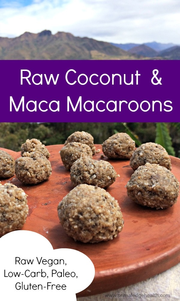 Raw Coconut and Maca Macaroons