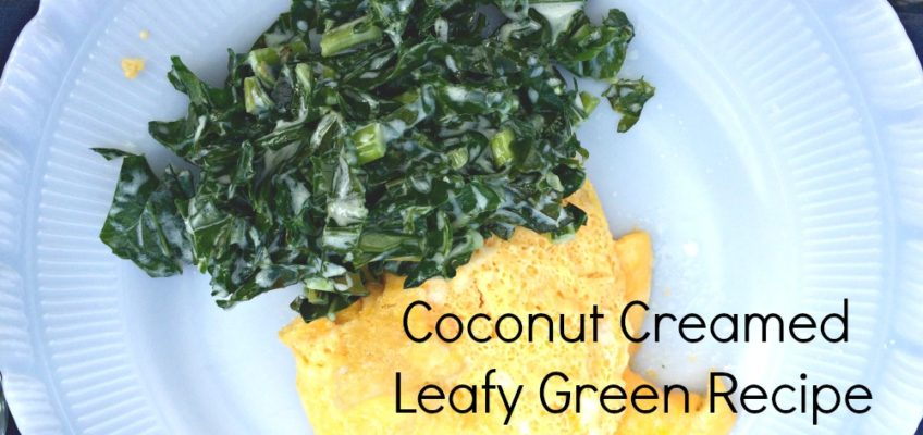 Coconut Creamed Leafy Greens (Quick and Easy)