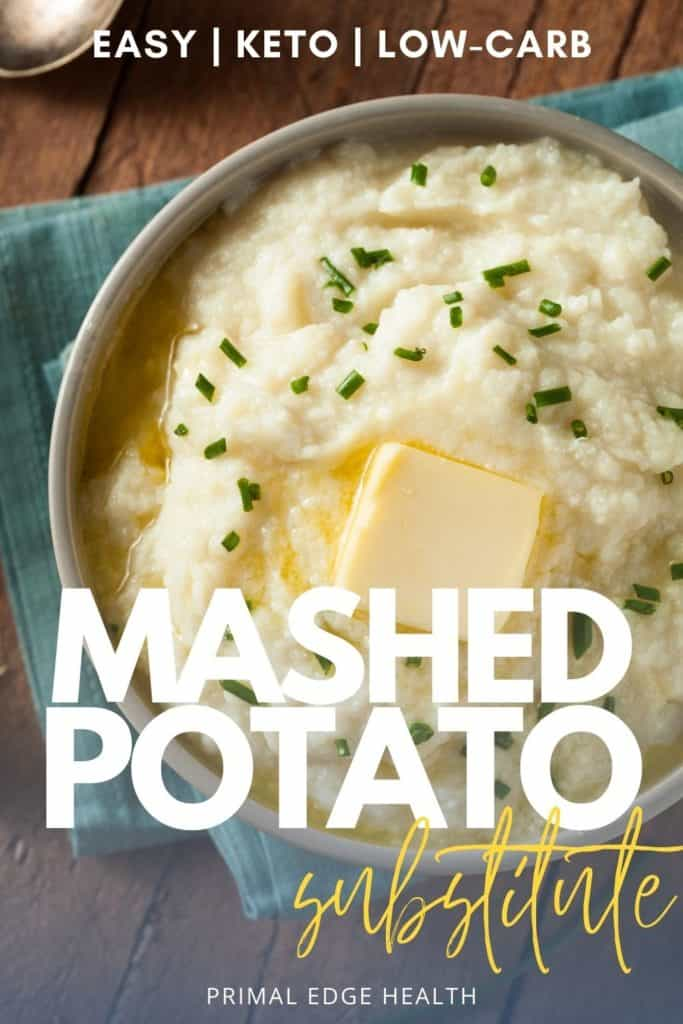 easy low carb keto Mashed potato substitute