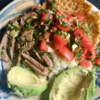 15 minute carne asada with tortilla plate