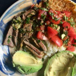15 minute Carne Asada with Cauliflower Rice