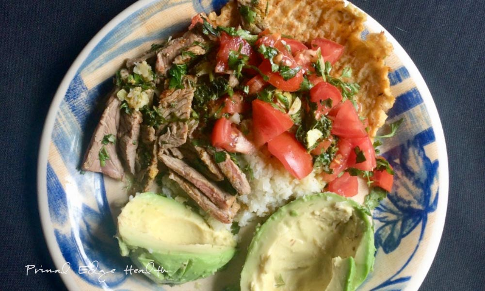 15 minute Carne Asada with Cauliflower Rice - Primal Edge ...