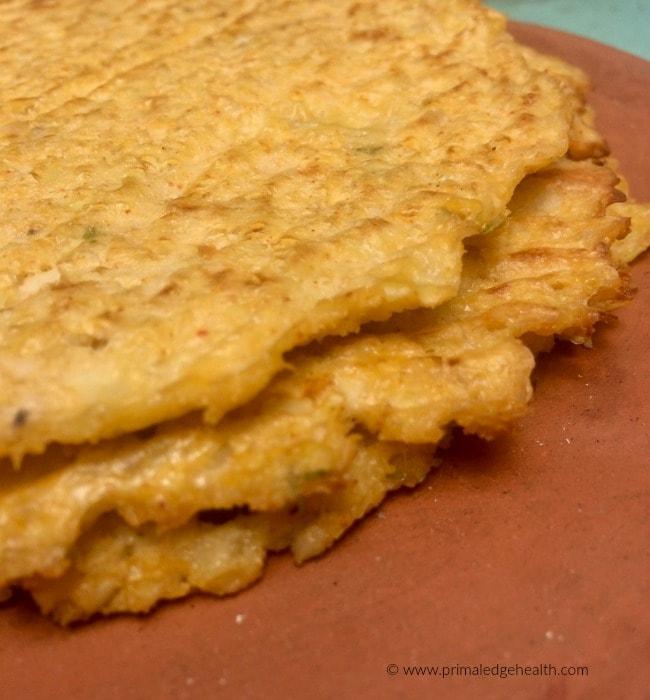 cheesy cauliflower tortillas