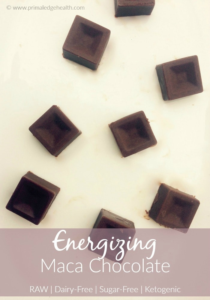 Energizing Maca Chocolate Recipe (Raw, Dairy-Free, Sugar-Free, Ketogenic)