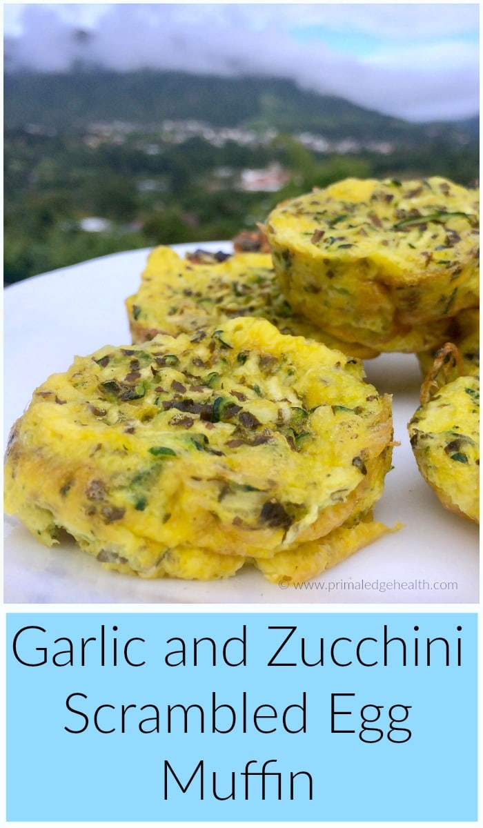 Garlic and Zucchini Scrambled Egg Muffin Recipe