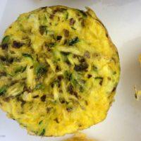 garlic zucchini scrambled egg muffin
