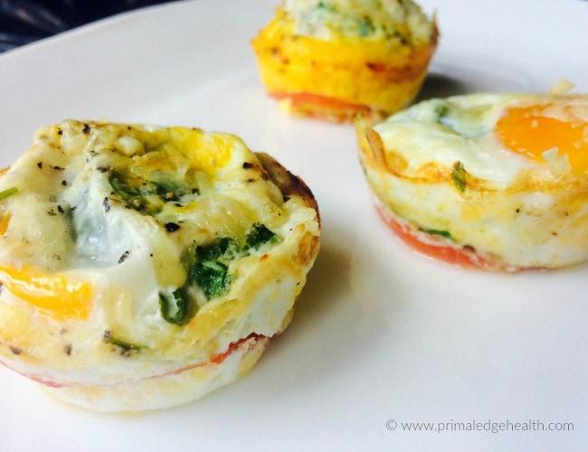 tomato zucchini egg cup breakfast