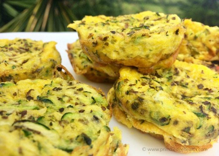 zucchini and garlic scrambled egg muffin