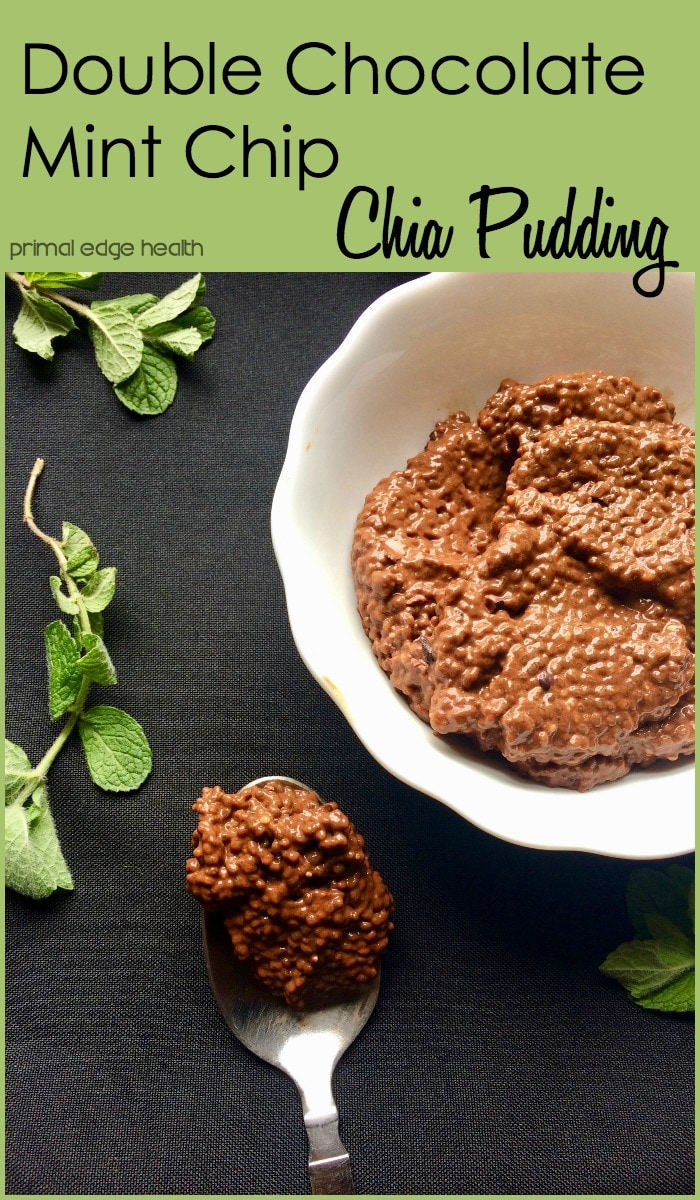 Double Chocolate Mint Chip Chia Pudding - Primal Edge Health