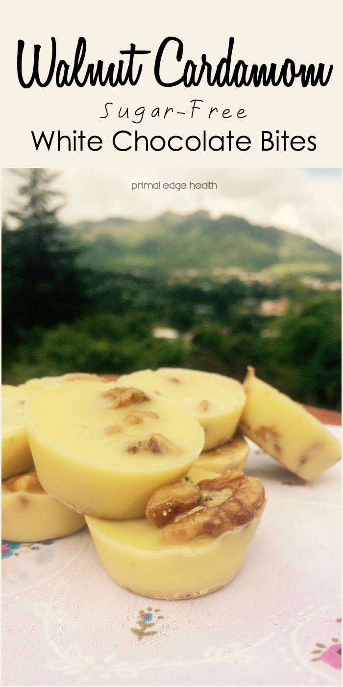 Walnut Cardamom Sugar-Free White Chocolate Recipe - Primal Edge Health