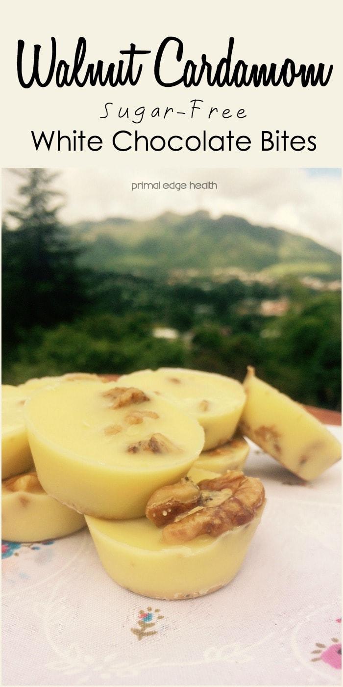Walnut Cardamom Sugar-Free White Chocolate Recipe - Primal Edge Health