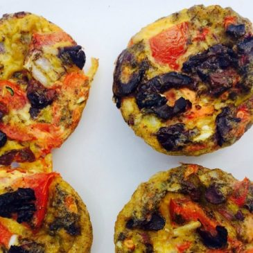 tomato and olive egg muffins