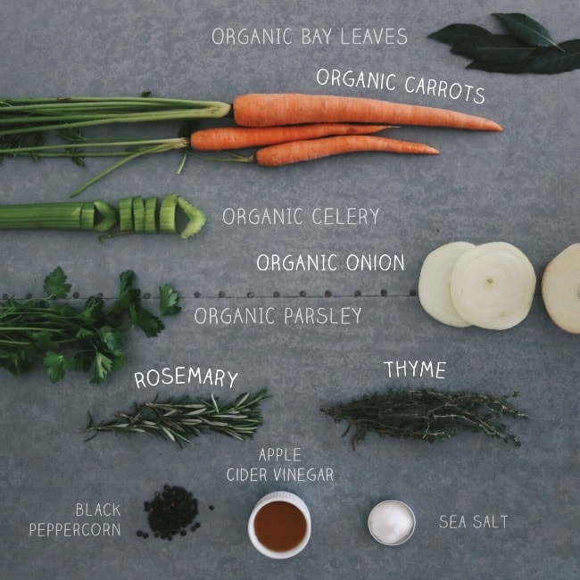 bone broth recipe ingredients