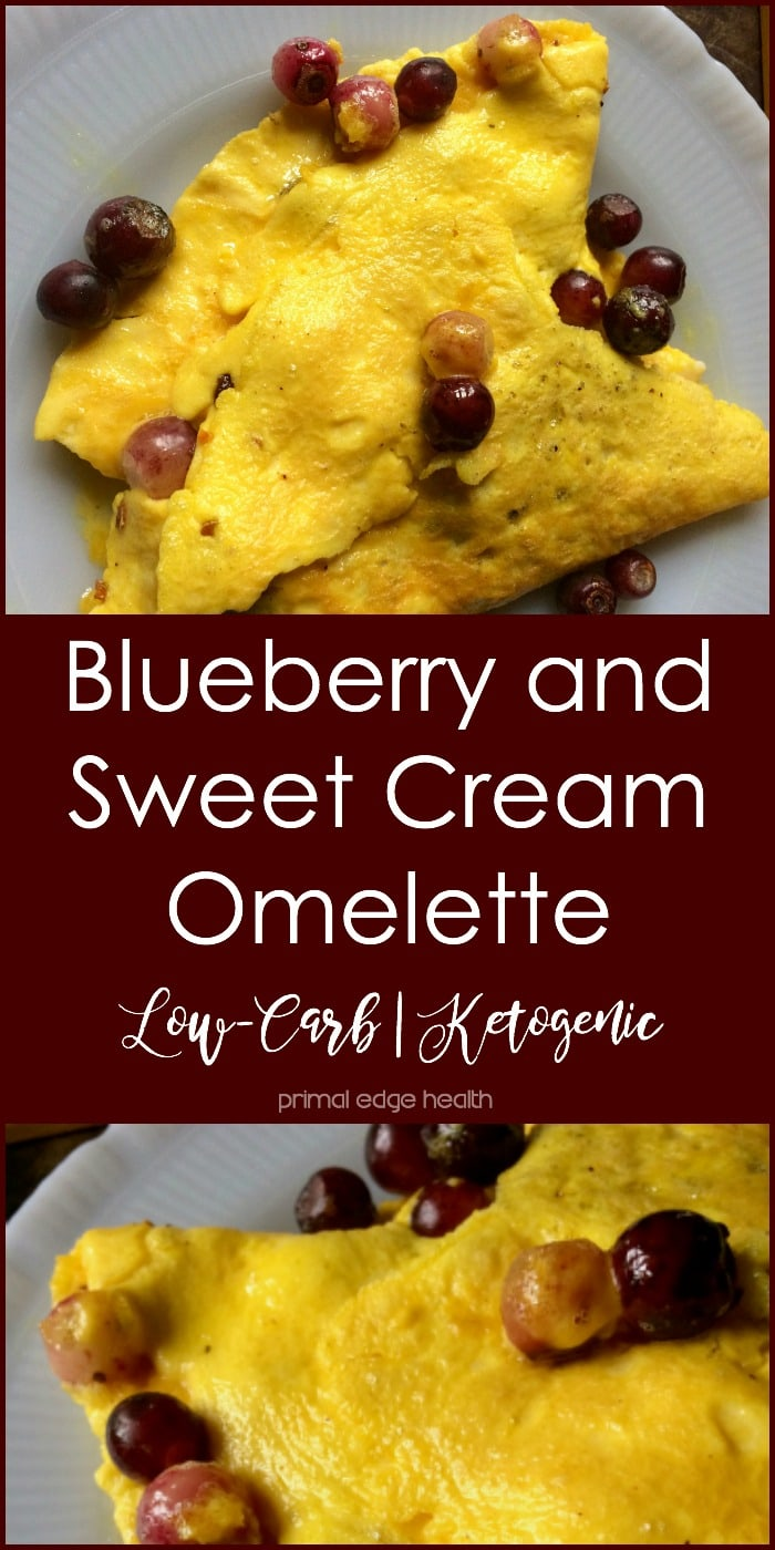 Blueberry and Sweet Cream Omelette - Primal Edge Health