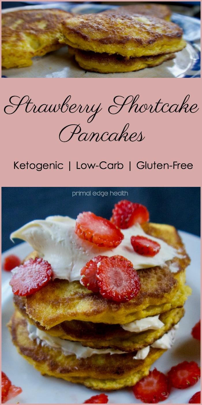 Ketogenic Strawberry Shortcake Pancakes - Primal Edge Health