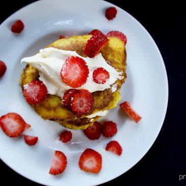 Ketogenic Strawberry Shortcake Pancakes feat image