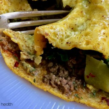 Beef and Broccoli Stir-Fry Omelette