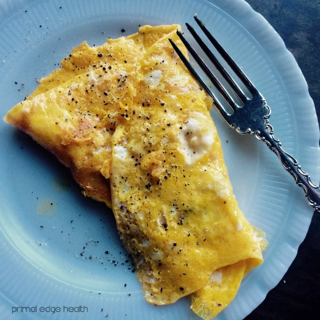 three cheese omelette cracked pepper