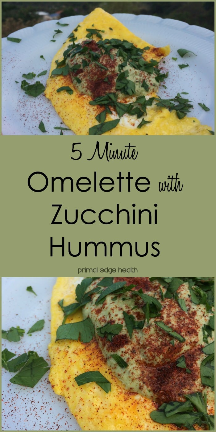 5 Minute Omelette with Zucchini Hummus - Primal Edge Health