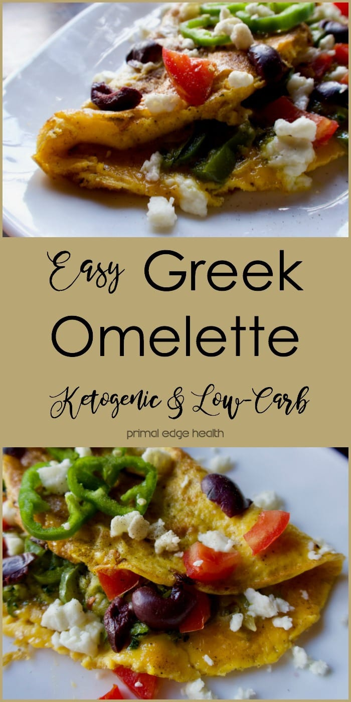 Easy Greek Omelette - Primal Edge Health