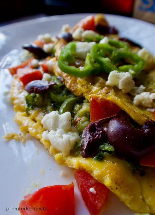 Feta cheese omelette keto