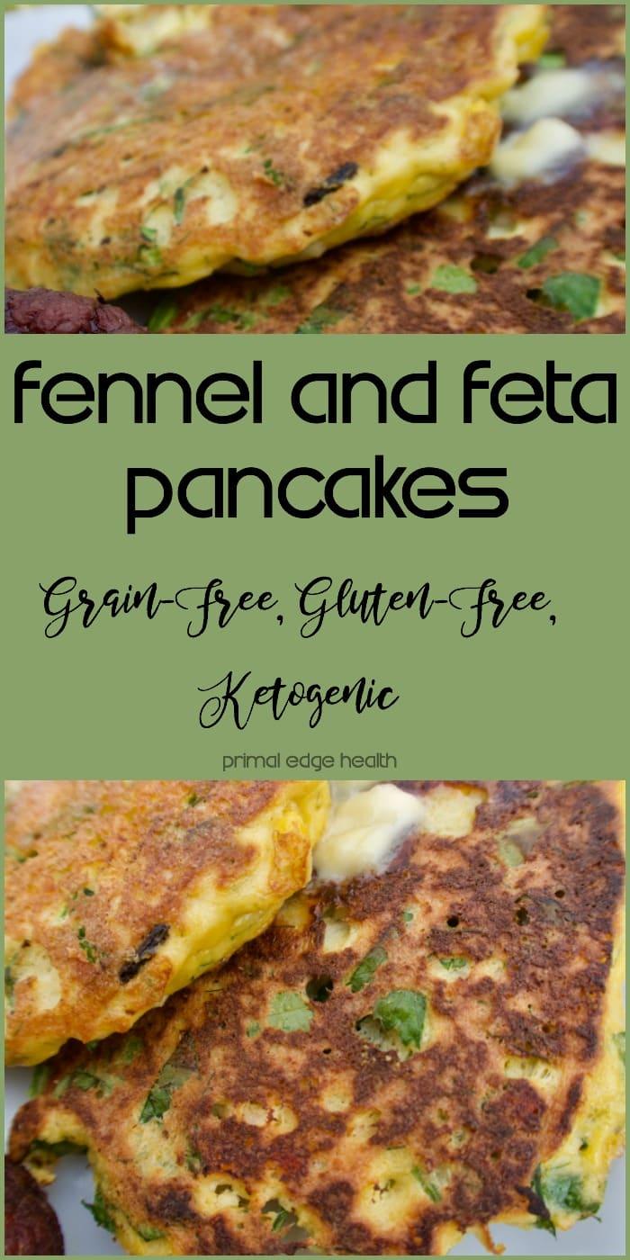 Fennel and Feta Pancakes (Grain-Free, Gluten-Free, Ketogenic) - Primal Edge Health