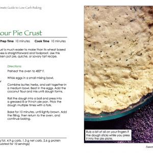 Savory Coconut Flour Pie Crust Recipe