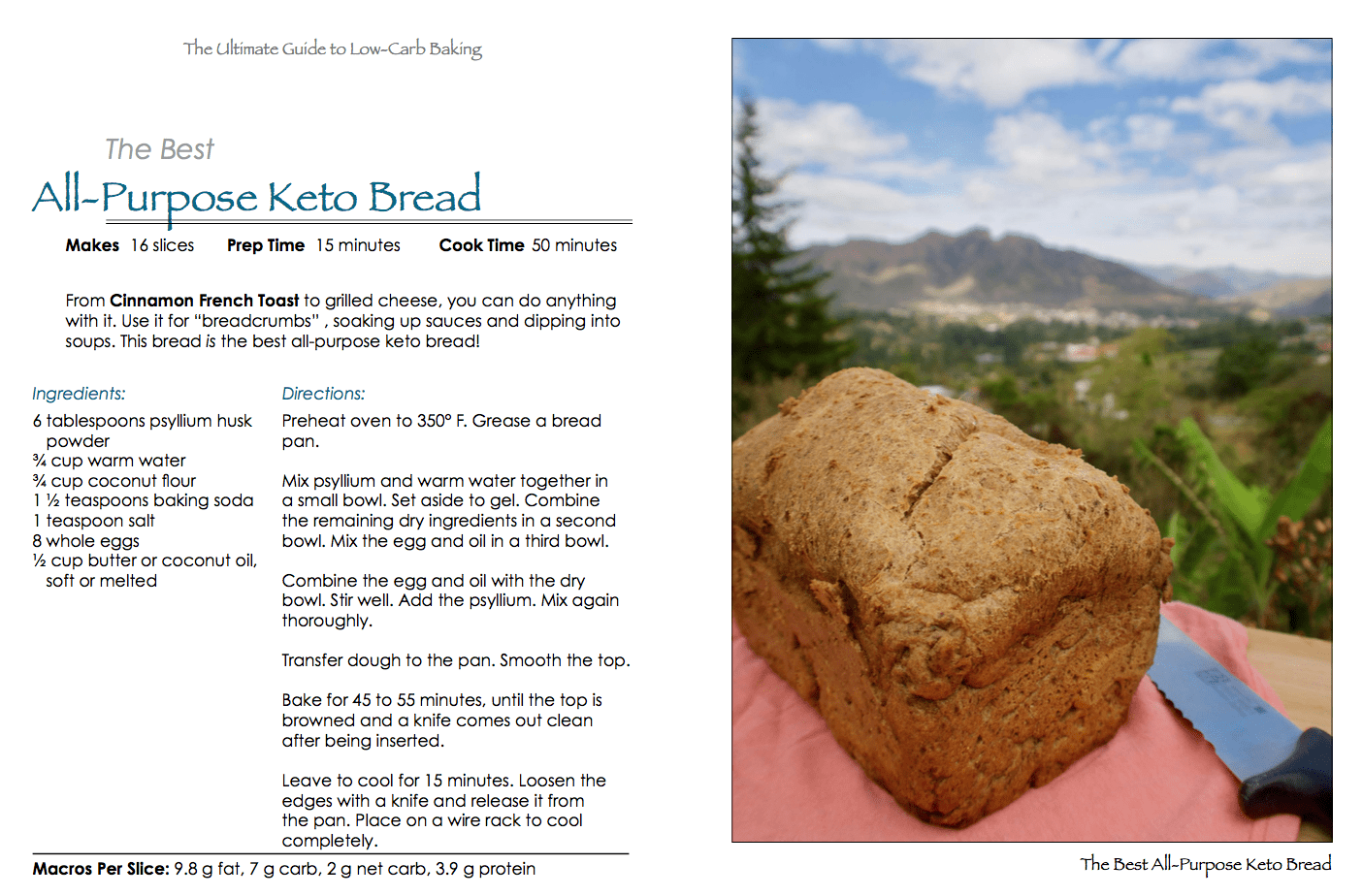 The ultimate guide to low carb baking sugar free grain free low the best all purpose keto bread fandeluxe Images