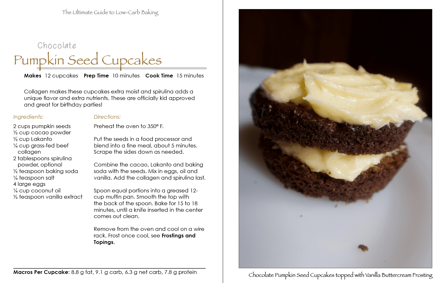 The ultimate guide to low carb baking sugar free grain free low chocolate pumpkin seed cupcakes fandeluxe Images