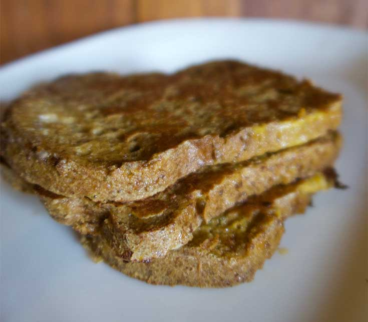 close up keto french toast