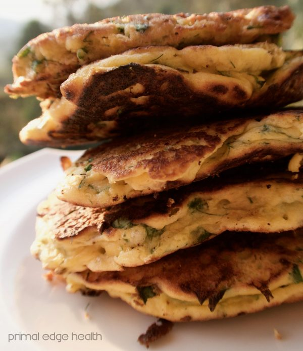 fennel and feta pancake stack
