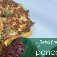 fennel and feta pancakes featured image