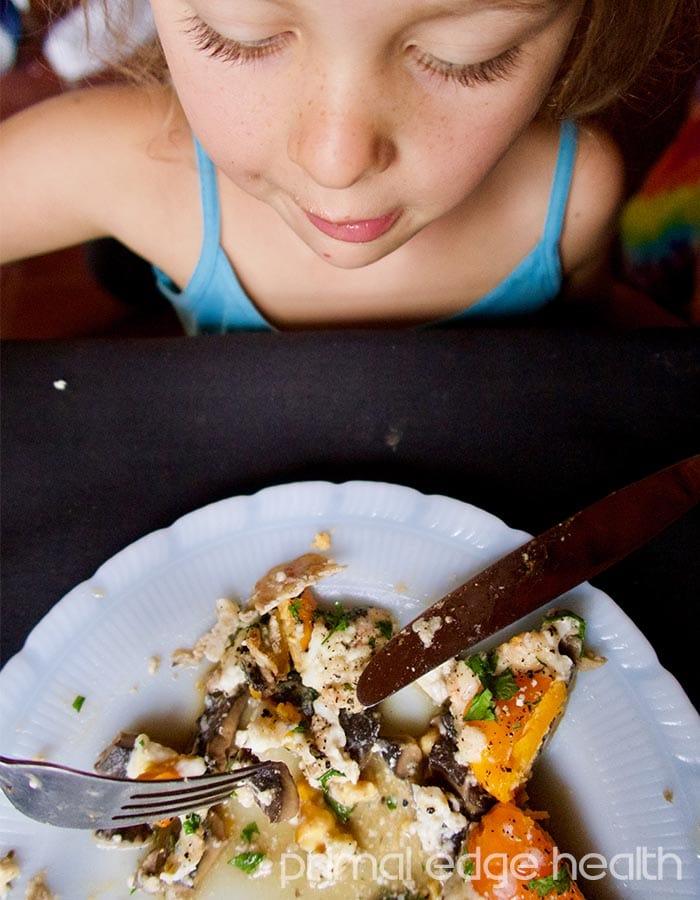 portobello egg bake kid friendly
