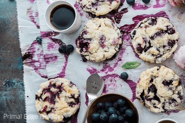 paleo 30 minute blueberry scones recipe