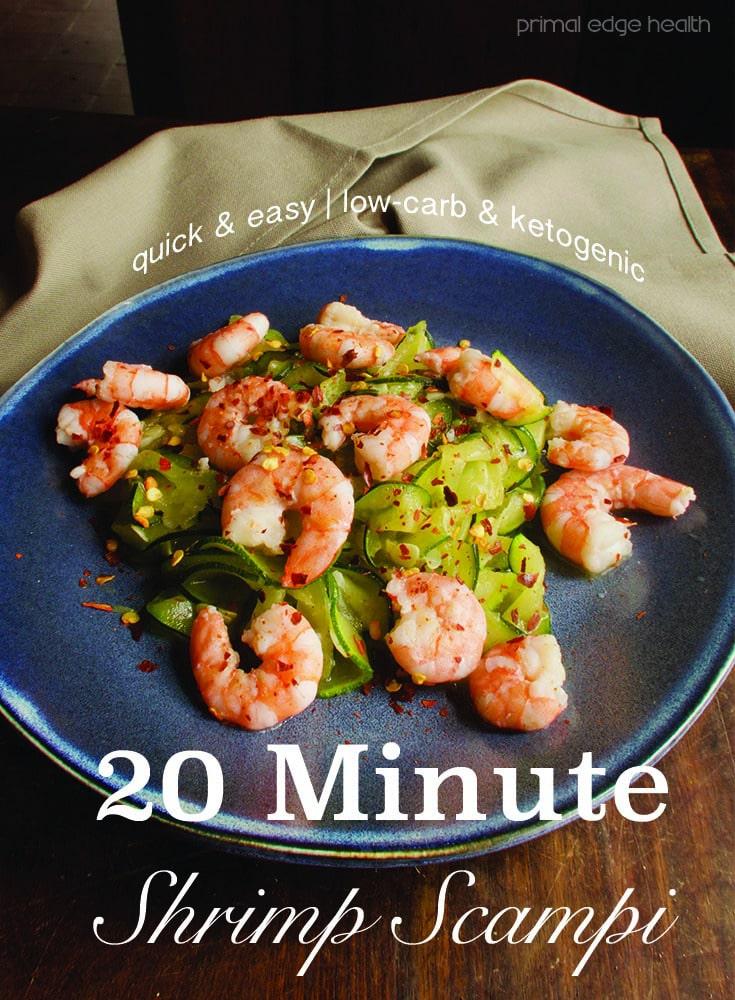 20 Minutes Shrimp Scampi - Primal Edge Health