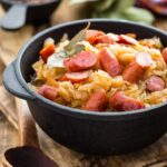 easy cabbage and sausage skillet